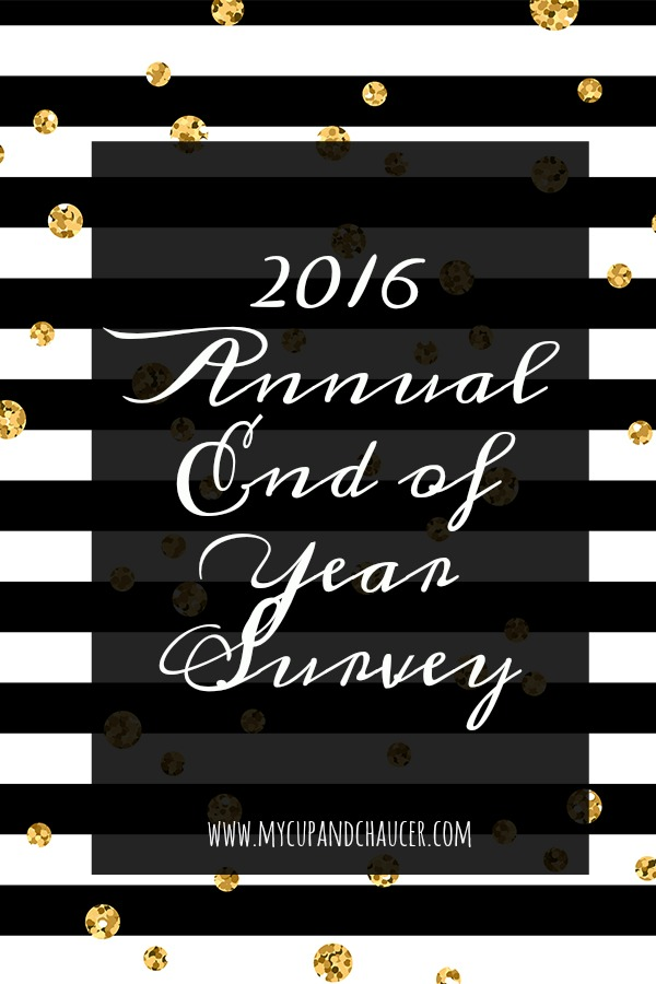 2016 annual end of year survey